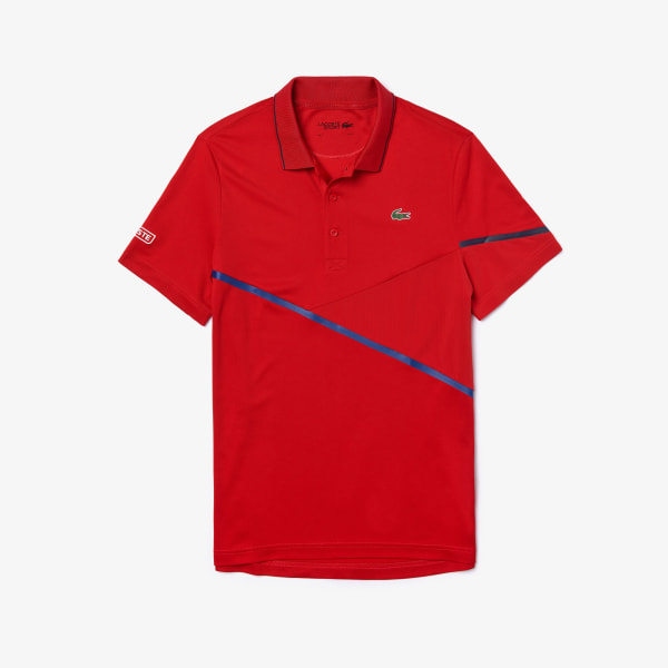 Short sleeves polo Red Lacoste Man XS