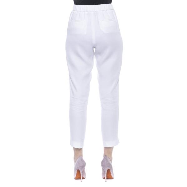 Trousers White Peserico Woman UK 16 - XXL