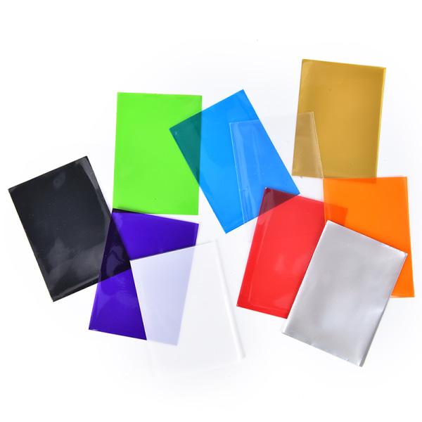 100st färgglada korthylsor kortskydd för brädspelbil