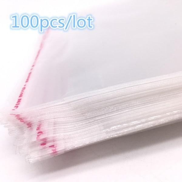 100st OPP Klar självhäftande tätning Plastpåse Godisgåva Jewe