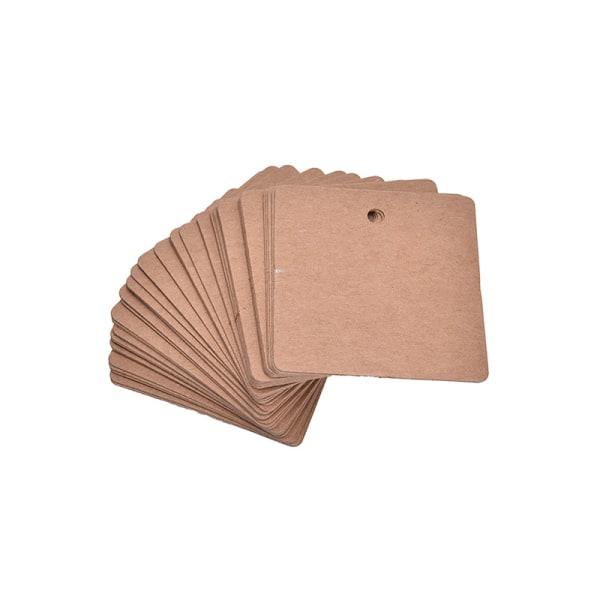 100X DIY Square Kraft Paper Etikett Pris Hängetiketter Presentkort Ons