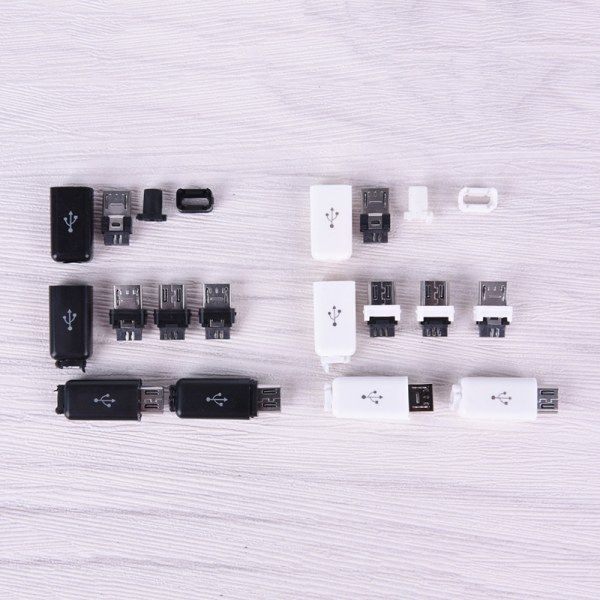 10st / lott DIY USB Micro Interface Assembly Adapter Connector Pl