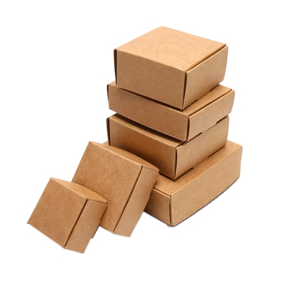 10st / Set Kraft Paper Cube Box Wedding Favor Candy Present Party S