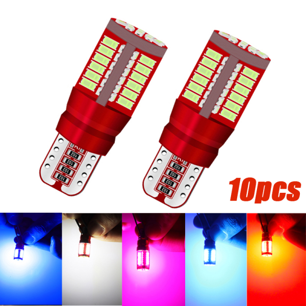 10st T10 3014 57SMD LED W5W Car Marker Light Parkeringslampa Engi
