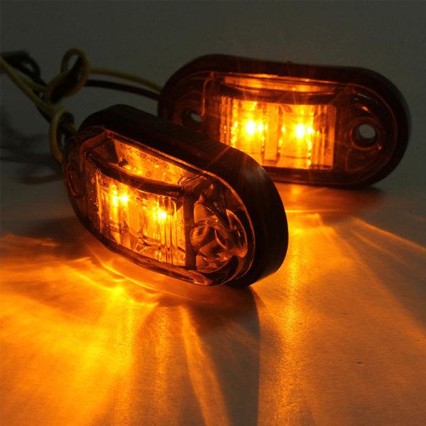 10PCS Varningsljus LED-diodljus Trailer Truck LED Side Mark