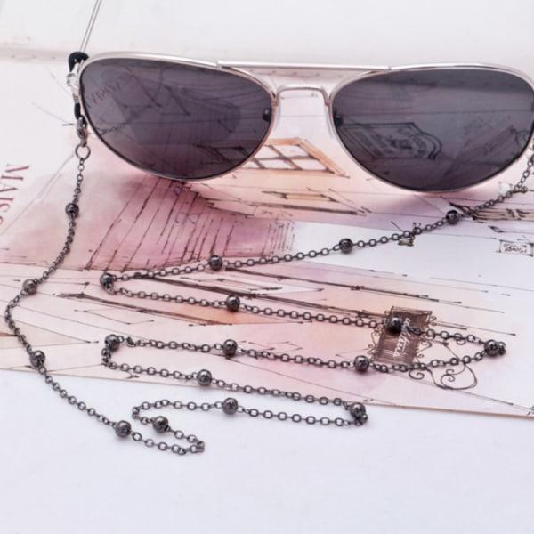 1 st Akryl Imitation Pearl Glass Crystal Bead Masked Sunglass