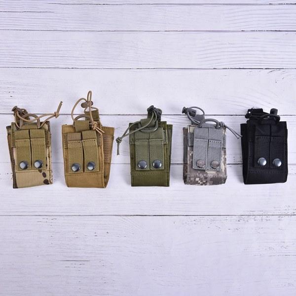 1 st Paketpåse Walkie Talkie Hållare Väska Taktisk Sports Radi