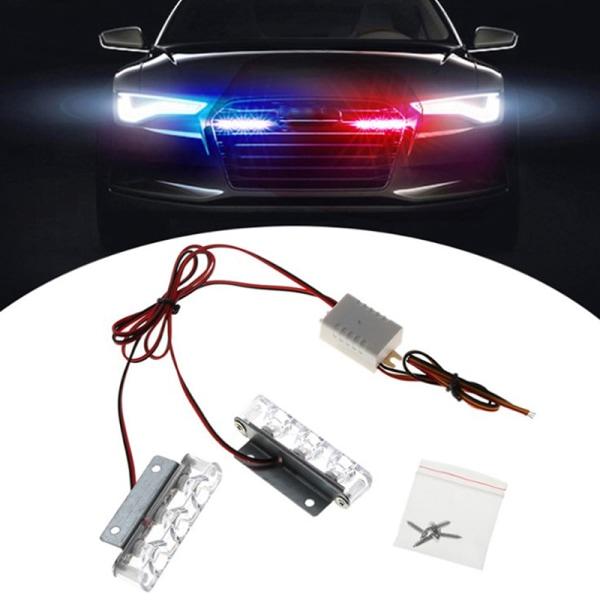 2st 3 LED Strobe Police Light 12V 12W Car Truck Motorcykel Fla