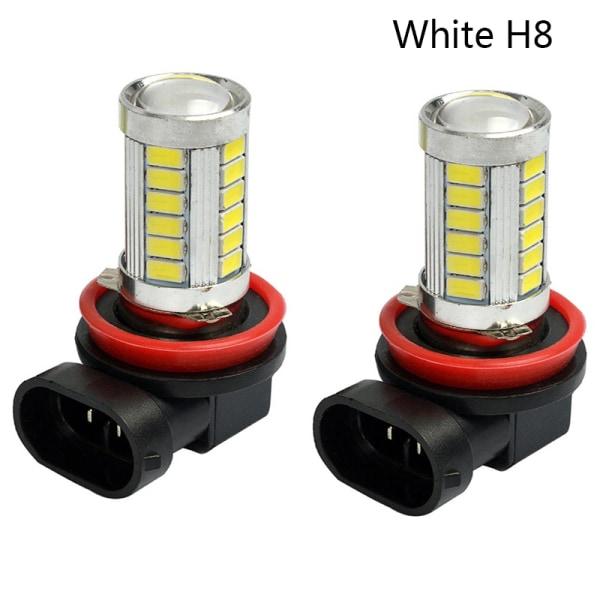 2st H8 H11 LED 9005 9006 5630 33SMD Dimljus Dagtid Runni