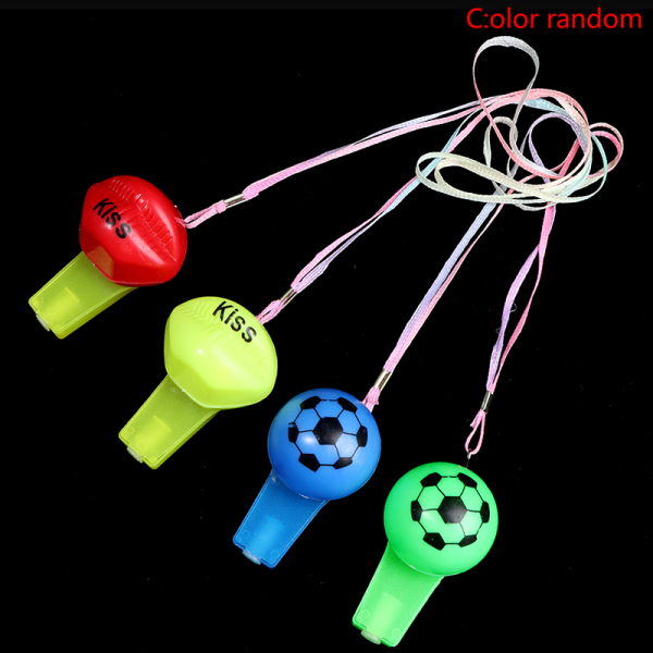 2st färgglada glödande visselpipor för barn med snodd rolig leksak i Th