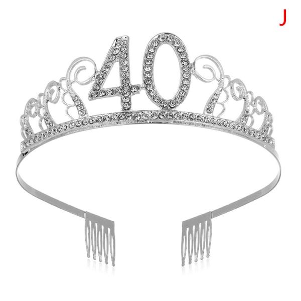 30 40 50 födelsedagsfest dekoration vuxen kristall strass tiar