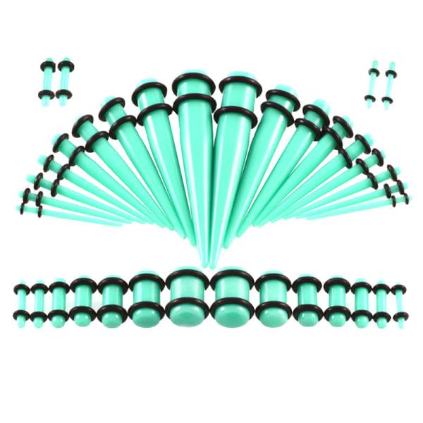 36st akryl öronmätare sträckningssats avsmalnande köttunnlar Plu