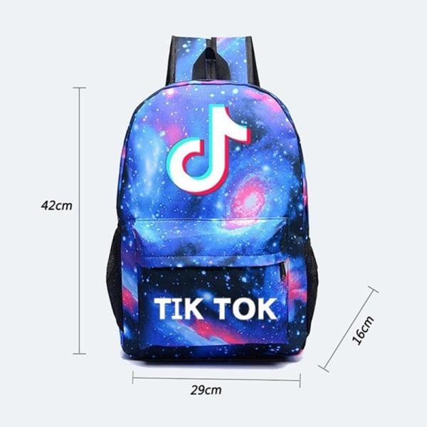 3st Tik Tok ryggsäck flickor pojkar bärbar ryggsäck tonåringar ca