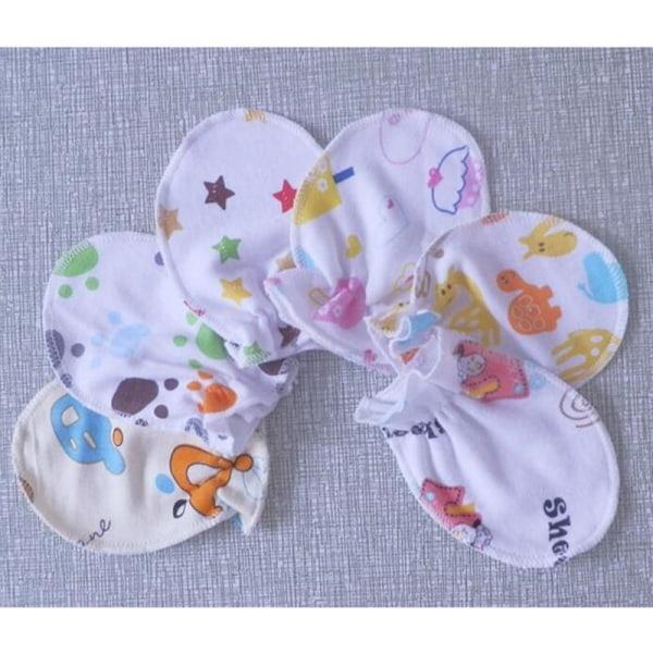 4 par söta tecknade baby spädbarn pojkar flickor anti repa vanta