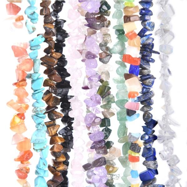 40 cm Chips Pärlor Natural Gemstone DIY Halsband Armband Tillverkning