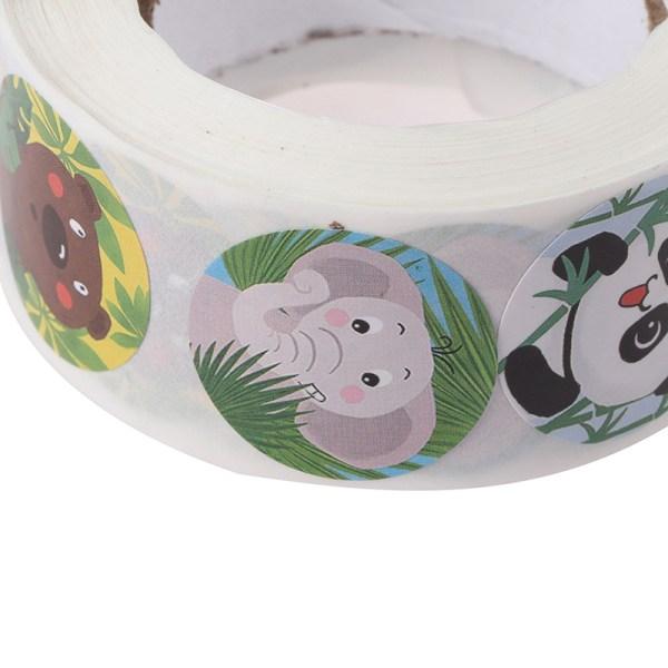 500st / rulle Djur tecknad klistermärke för barnleksaker klistermärke rewa