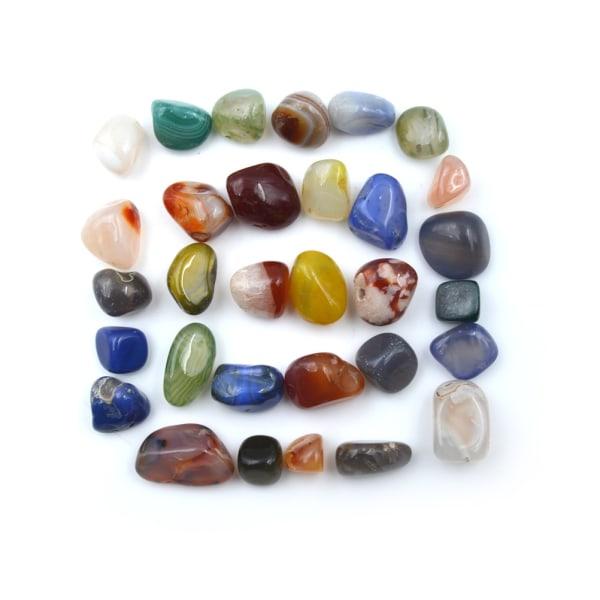 50g Blandade färger Naturliga agatstenar Ädelsten Rock Tumble Ston