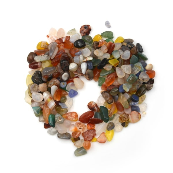 50g Blandade färger Naturliga Tumbled Agatsten Ädelsten Rock Abou