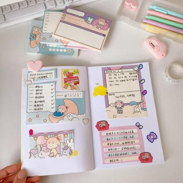50st Page Office Wordpad Girls School Student Notepad Cartoon S