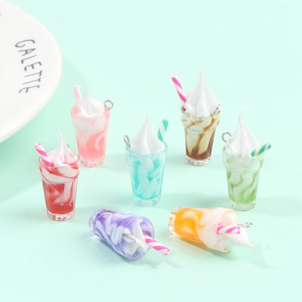 5st Dollhouse Mini Ice Cream Milk Tea Drink Cup DIY Making Acce