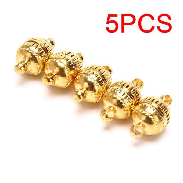 5PCS kopparmagnetiska låsanslutningar för halsband Armband C