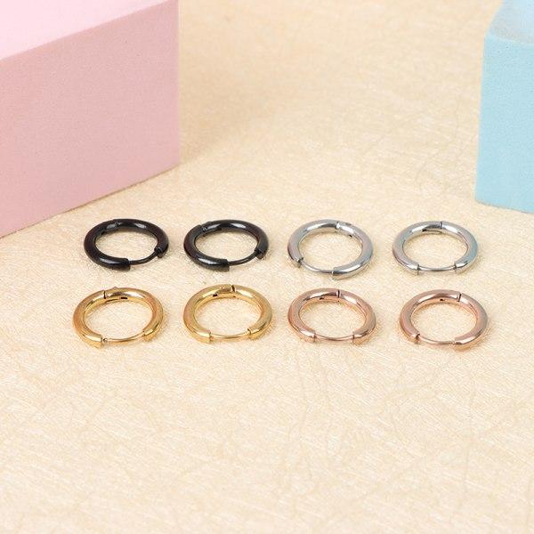 5st / lot rostfritt stål cirkelörhängen för tjejer runda g