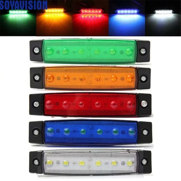 6SMD Lastbilslampa med led-markering Car Bus Truck Lastbil Side Mark