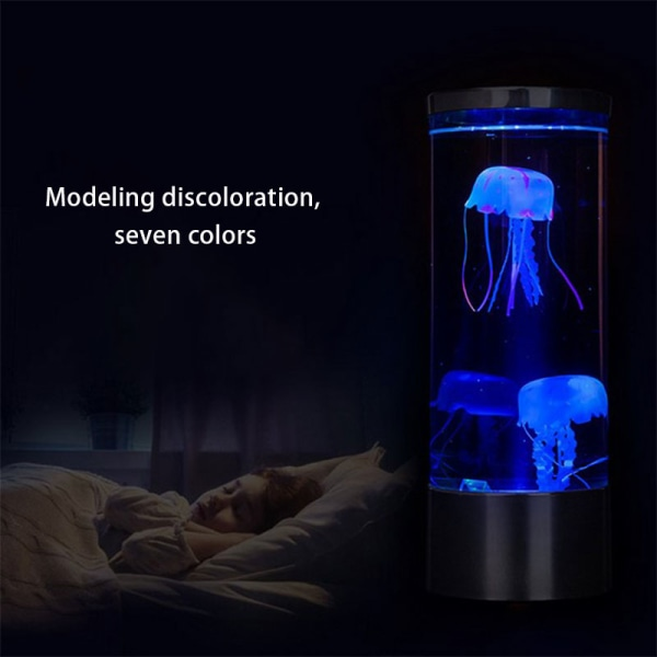 7 färgbytande LED-manetlampa Akvarium sängnatt Atmo