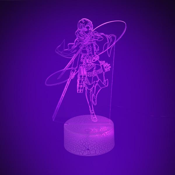 Anime Figur Attack på Titan Levi Ackerman LED Night Light Acry