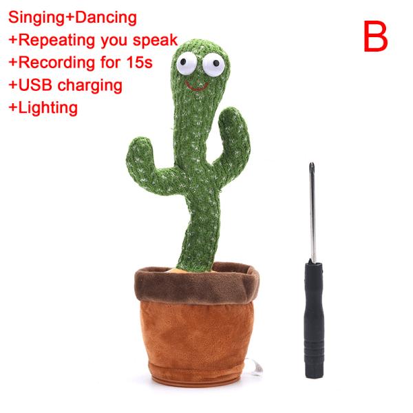 Kaktus plyschleksak Elektronisk Shake Dancing Toy Song Dancing Cact