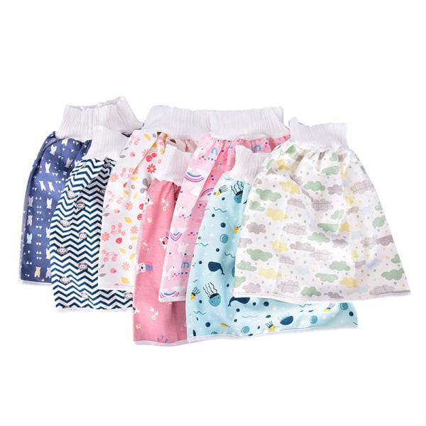 Barnblöja kjol Babybyxor absorberande shorts förhindrar kvinnor