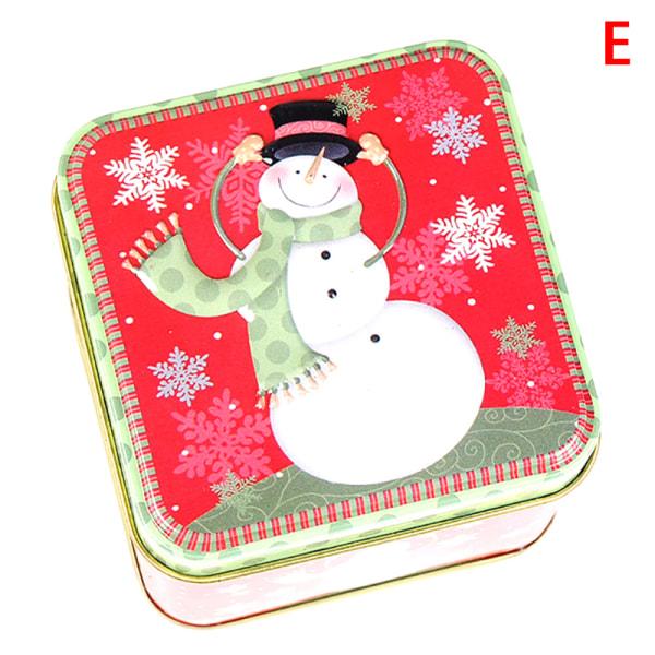 Julkartongslådor Plåtlåda Candy Baking Cookies Case Container