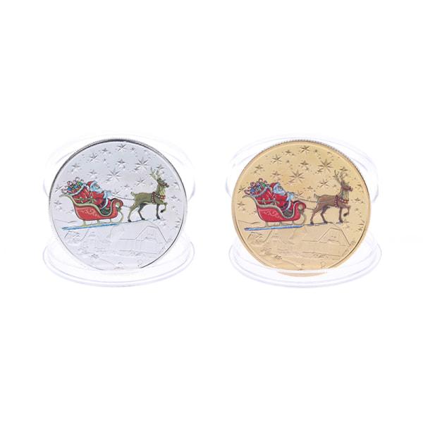 Jul Santa Claus jubileumsmynt presenterar minnesmärke Co
