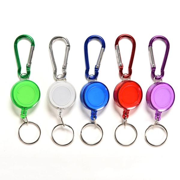 Färgglada infällbar rem Carabiner Clip Card etikett nyckelring