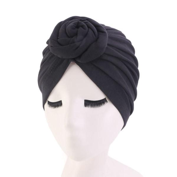 Bomullshuvudhuvud Hårkappar Wrap Styling Cover Salon Elastisk B