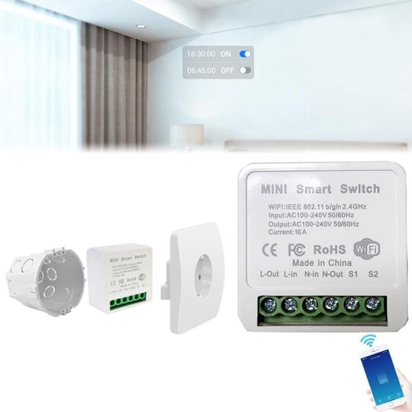 DIY Wifi Smart Switch 16A Kontrolltimer Trådlös Switches Smart