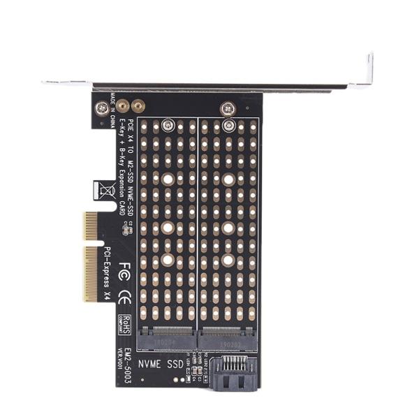 Duale PCIe X4 till NGFF M.2 NVME PCIe M Key SATA B Key 2230 till