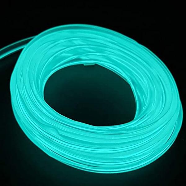 El Wire 5M / 16FT 12V Neon El Lights Rope Neon Glödande Strobing El