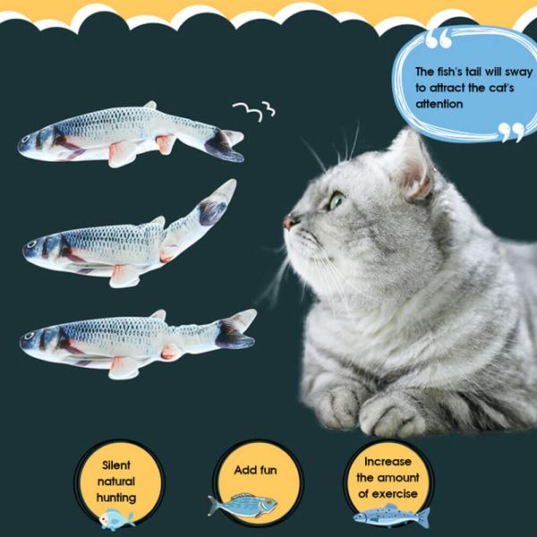 Electric Cat Toy 3D Fish USB Charging Simulation Fish Interacti