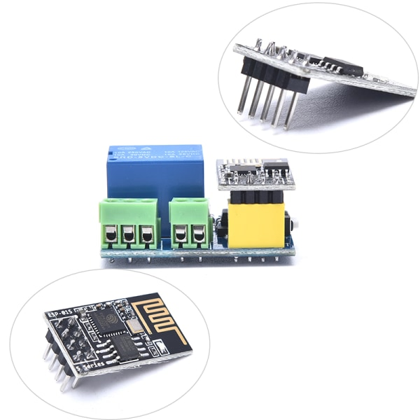 ESP8266 ESP-01S 5V WiFi-relämodul Smart Home-fjärrkontroll