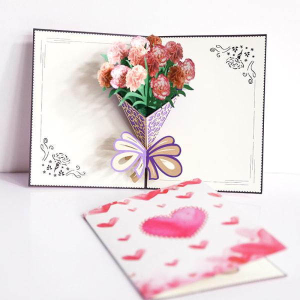 utsökt bukett 3d gratulationskort mors dag välsignelse gåva th