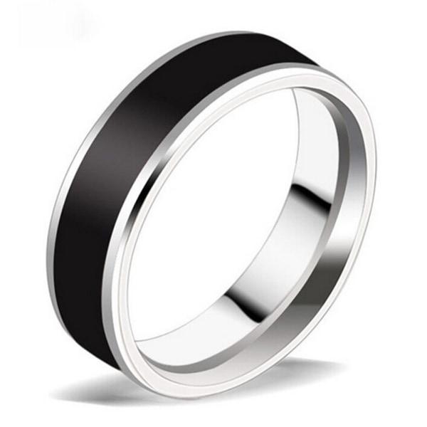 Mode smycken Svart Titanium Band rostfritt stål Ring för mig
