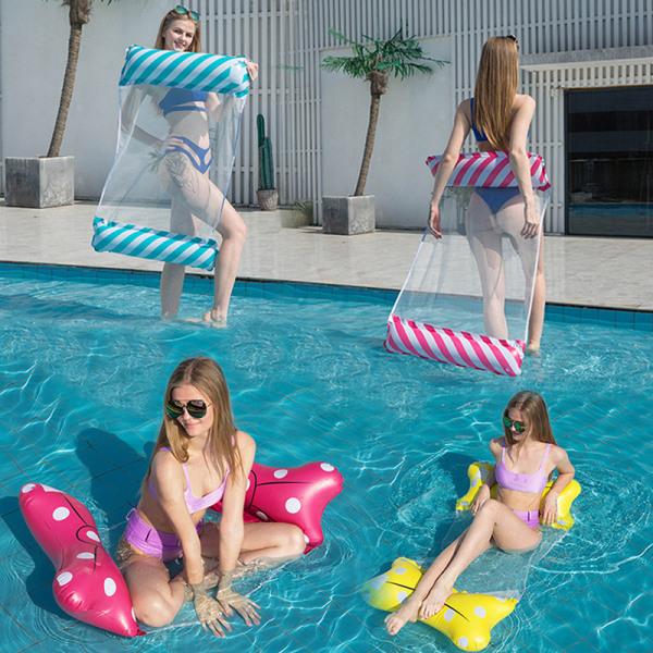 flytande stol vuxen vatten hängmatta vikbar stol uppblåsbar leksak