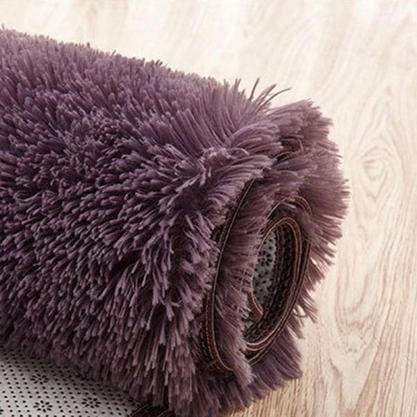 Fluffy Rugs Anti-Slid Shaggy Area Rug Room Matta Golvmatta Ho