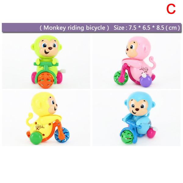 Roliga Kids Clockwork Toy Mini Pull Back Jumping Frog / Robot / Car