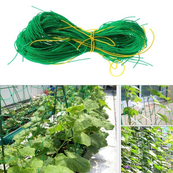 Trädgård Grön Nylon Trellis Netting Support Klättring Bean Plant