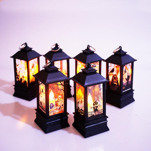 Halloween Vintage Pumpkin Castle Light Lamp Party Hanging LED P