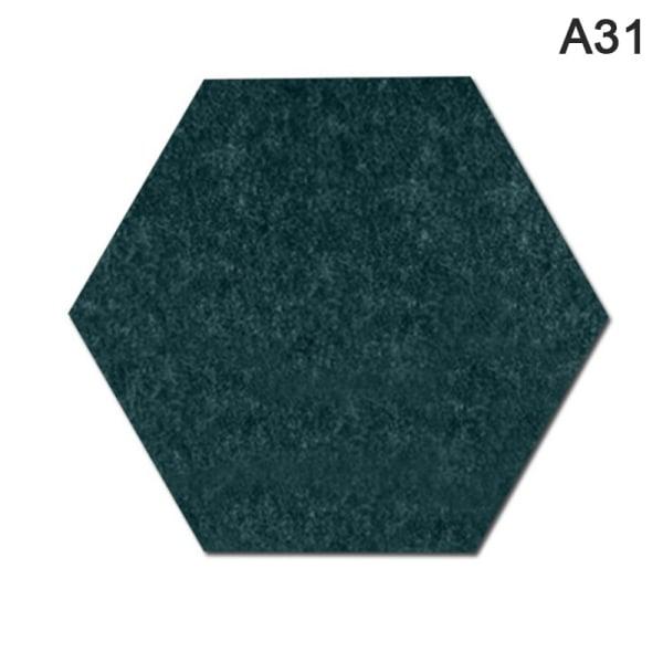 Hexagon Felt Wall Sticker Bakgrundskort Självhäftande Wall St.