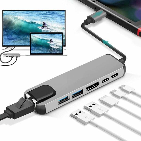 HUB C till Multi USB3.0 HDMI-kompatibel adapter för MacBook Pro Ty