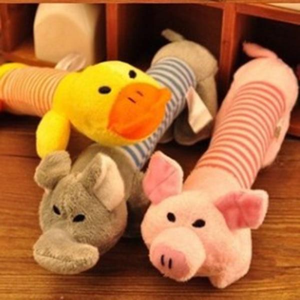 Härlig sällskapsdjur hund katt valp kanvas bita tugga leksak spela leksak Nonto